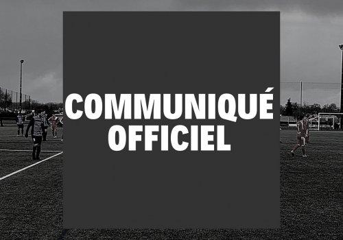 Communiqué officiel 17.06.2020